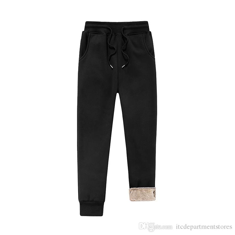 Thick Fleece Velvet Casual Slim Fit Mens Joggers Fur Sweat Pants Fashion Large Size Stretch Long Trousers Runner Pants For Men