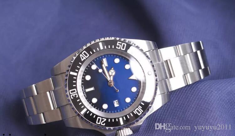 Логотип BrandOriginal Сапфир наручные часы Базель Красное море-житель нержавеющая сталь 44 мм часы 126600 механизм с автоподзаводом часы