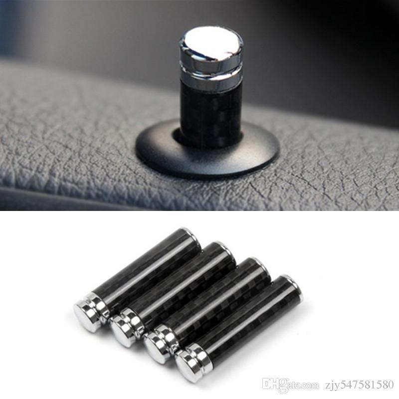 Autocollants de voiture Tech fibre de carbone Car Lock modifié porte Pin pour BMW E36 E46 E63 E64 E81 E82 E88 E92 E93 style de voiture