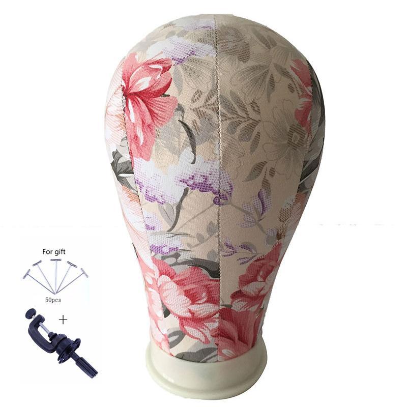 코르크 캔버스 블록 살롱 전문 가발 만들기 꽃 마네킹 모델 인체 모형 머리 조절 패션 메탈 삼각대 스탠드 홀드