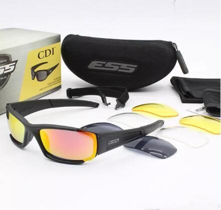 Original Polarized ESS CDI ROLLBAR Radfahren Sonnenbrillen Männer UV400 4 Linsen Brille Taktische Brille mit Schutzhülle für Outdoor-Sportbrillen