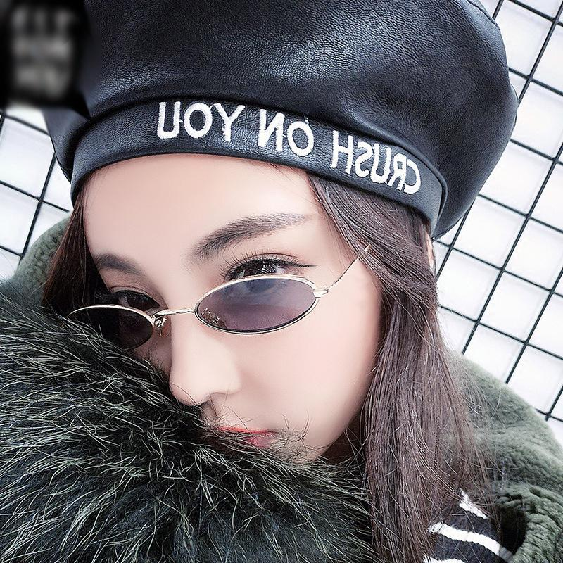 Ladies Classic Pink Reflective Oval Sunglasses Women Men Retro Metal Frame Wrap Coating Mirror Sun Glasses for Female