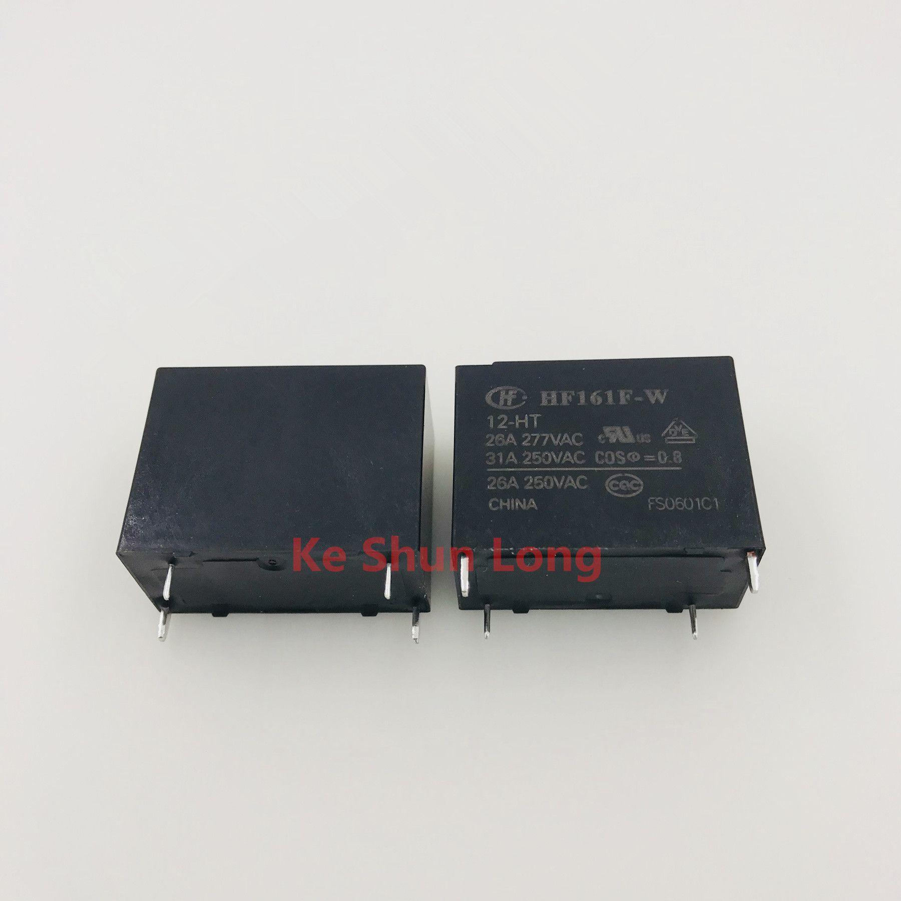 Freies Verschiffen Los (5pieces / lot) 100% ursprüngliche neue HF HF161F-W-12-HT 12VDC HF161F-W-18-HT 18VDC HF161F-W-24-HT 24VDC DIP-4 31A-Leistungsrelais