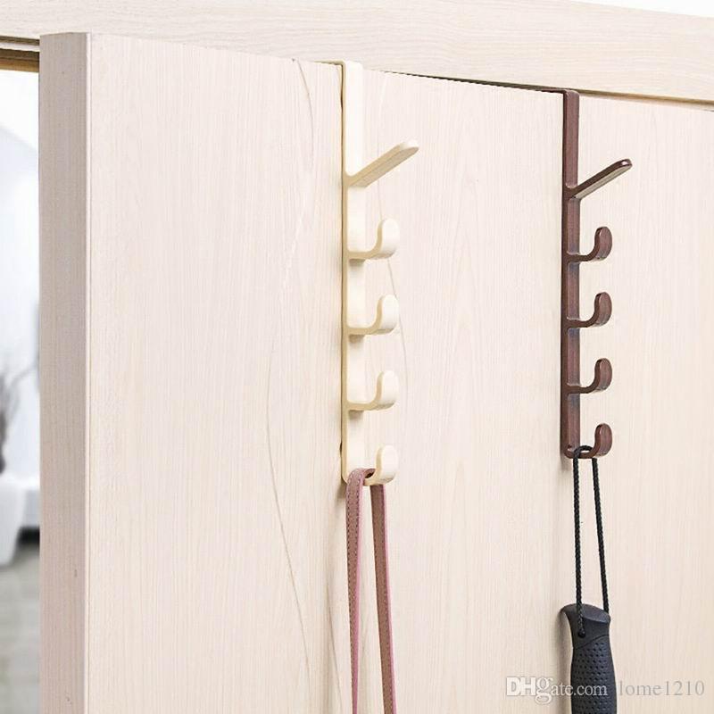 Tür Kleiderbügel Haken Kleideraufbewahrung Kunststoff Hängenden Rack Home Organizer Haken Rails Schlafzimmer Dress Bag Hanging Hooks