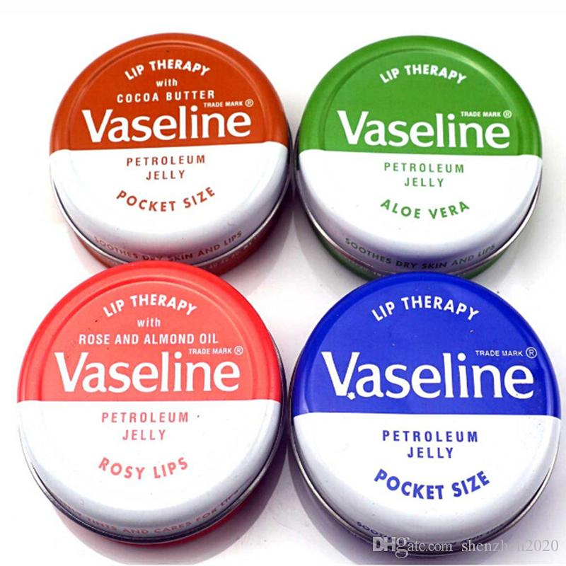 Makeup brand Vaseline Lip therapy cocoa butter for soft glowing rosy lips Hydrating Petroleum jelly moisturizing Lip balm lip cream 2018