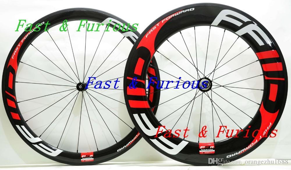 شحن مجاني! F5R + F9R عجلات الكربون 50 ملليمتر 88 ملليمتر الفاصلة أنبوبي الطريق دراجة الكربون عجلة 700c 23 ملليمتر عرض الطريق الدراجة