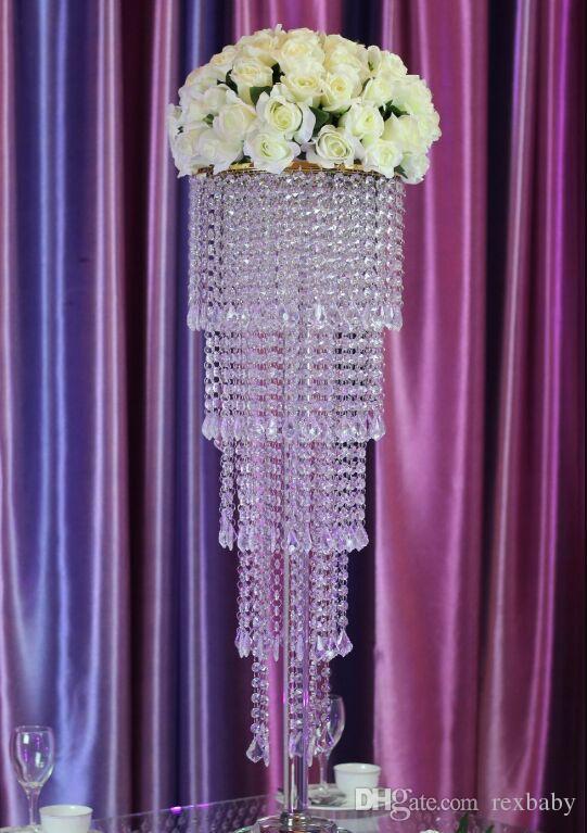 5 طبقات K9 الكريستال الشفاف الزفاف محور / 80CM (H) الزفاف الجدول محور