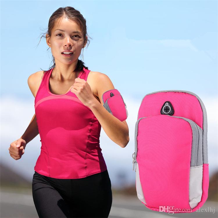 Sports Running Bag Jogging Gym Armband Holder Mobile Phones Less 6 Inch Pack