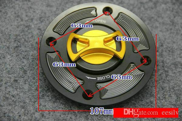 Coperchio del serbatoio del serbatoio del carburante del motociclo della lega di alluminio di CNC per Suzuki GSX600 GSXR600 GSXR750 SV650 GSXR1000 TL1000 GSF1200 4 fori
