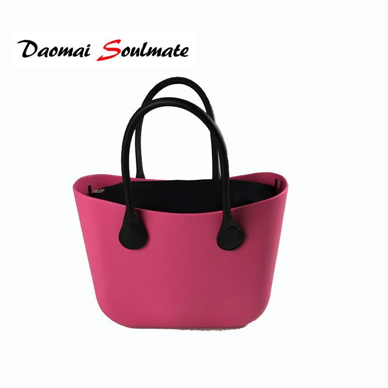 Nuevo bolso de estilo clásico O Bag Style con lienzo impermeable insertar interior y asas Obag mujeres