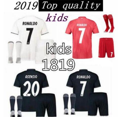 super popular 8dc10 d5eb6 2019 Champion League Patches,Ramos 2018 19 Real Madrid Kid Equipaciones  Soccer Jerseys Luka Modric Realmadrid ISCO Bale Football Kits 2018/19 From  ...