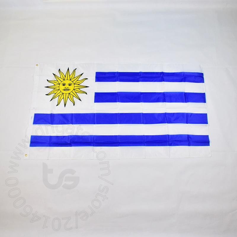 أوروغواي / أوروغواي العلم الوطني الحرة الشحن 3X5 FT / 90 * 150CM معلق العلم الوطني أوروجواي الديكور المنزلي العلم راية