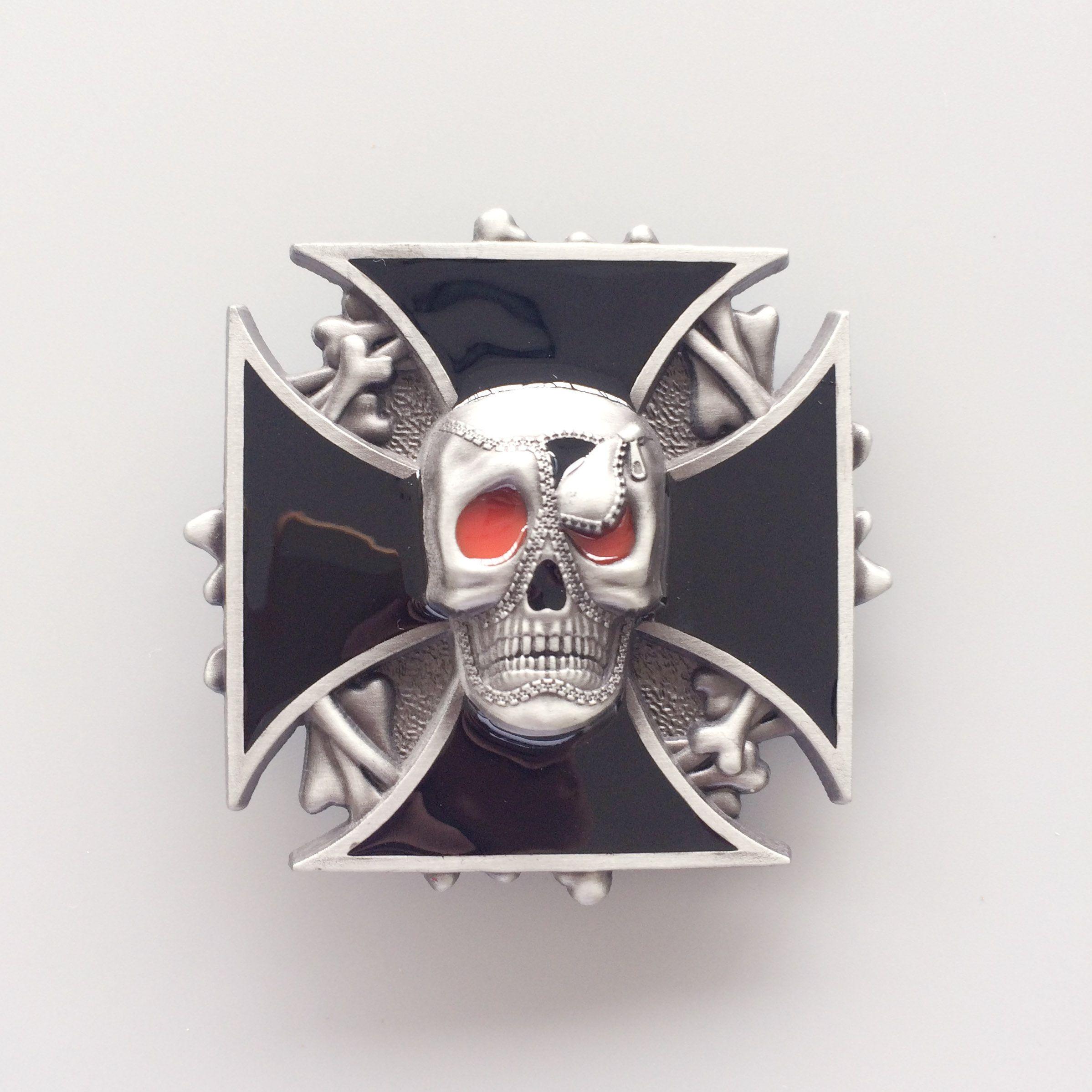 Nuevo Vintage Enamel Emo Skull Belt Buckle Gurtelschnalle Boucle de ceinture