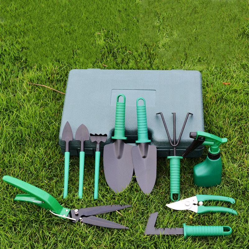 Garden Tool Set 10 Piece Garden Heavy Duty Tools Set Kit with Hard Storage Case Secateurs Pruning Saw Trowel Pruners Rakes best gift