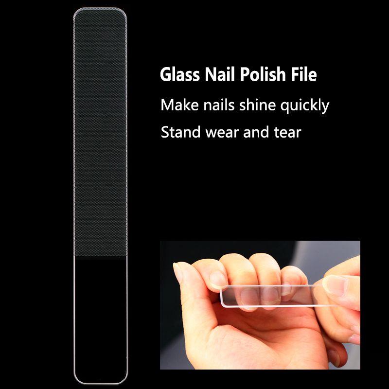 20pcs Glass Nail File Buff per Chiodi Polish Manicure Durevole file di cristallo Nuovo design Nail Art Decorations Strumenti