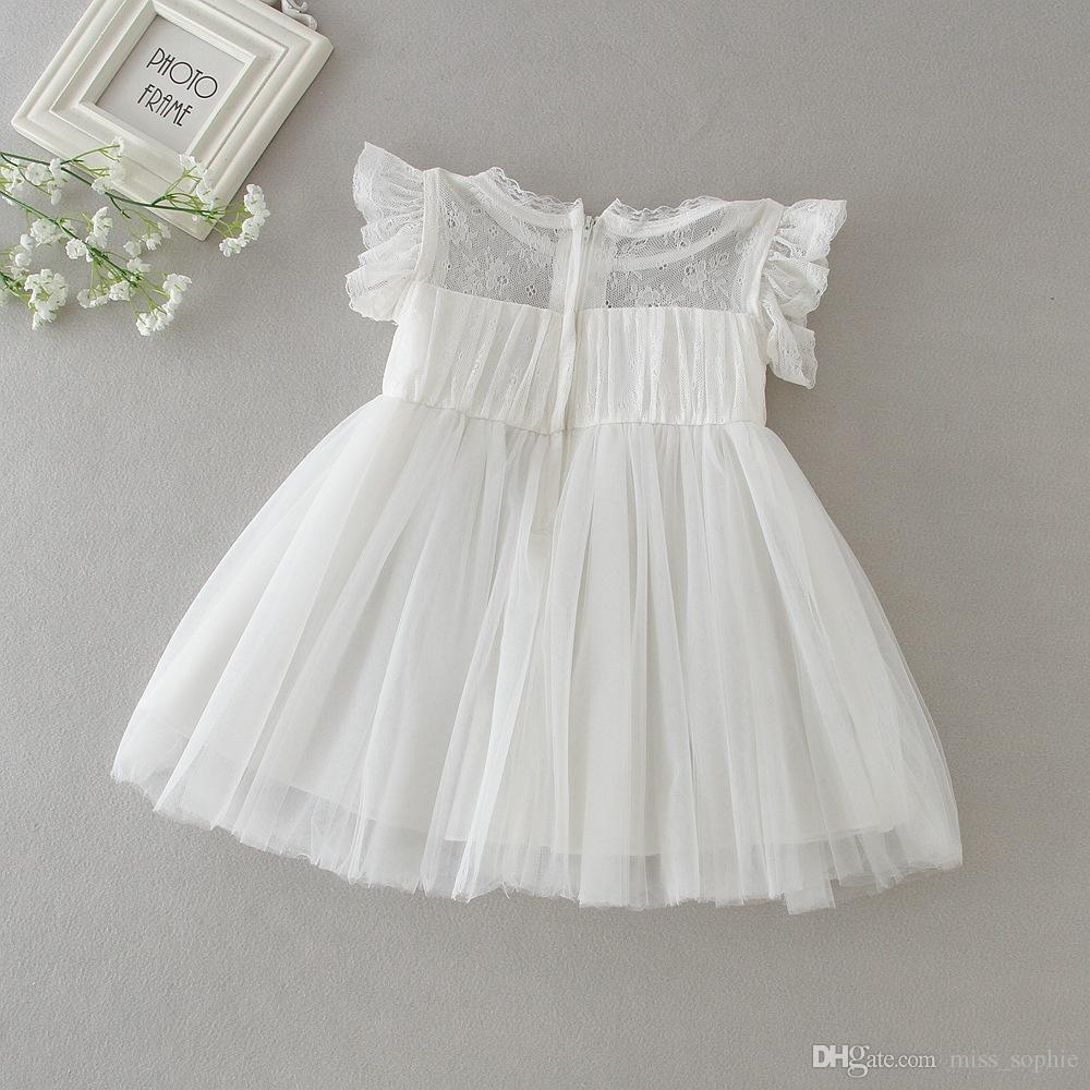 Großhandel Factory Outlet Kleinkind Kleinkind Baby Mädchen Taufkleid Prinzessin Ball Party Hochzeit Spitzenkleid Taufe Erwachsene Kleider Von
