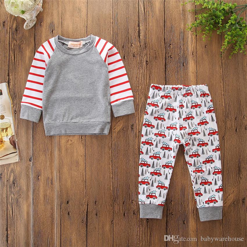 Toddler Boy Clothes Girls Outfits Brand New Spring Autumn Boys Clothing Set Cotton Sweatshirt Tops Long Pants Kids Clothes Children Clothing
