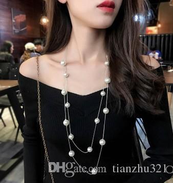 мода низкое цена высокое качество натуральной жемчужиной долгое ожерелье дамы (5.8) dvfdg