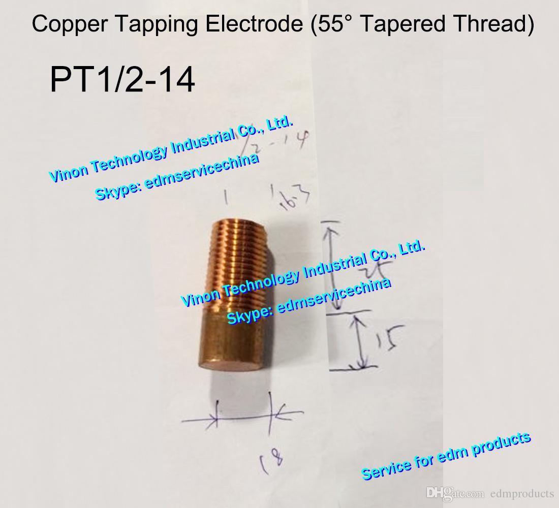 (5 sztuk) BSPT 1 / 2-14 Elektroda nici miedziana (55 ° Taper) Pitch 1.814, EDM ELECTRODE COPERED COPER, brytyjska elektroda gwintowa 1/2pt