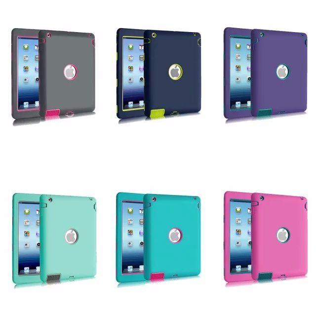 For Apple ipad 2 3 4 5 6 case Amor Heavy Duty Drop resistance Shock Proof tablet Case for IPAD MIMI 1 2 3 IPAD MINI 4