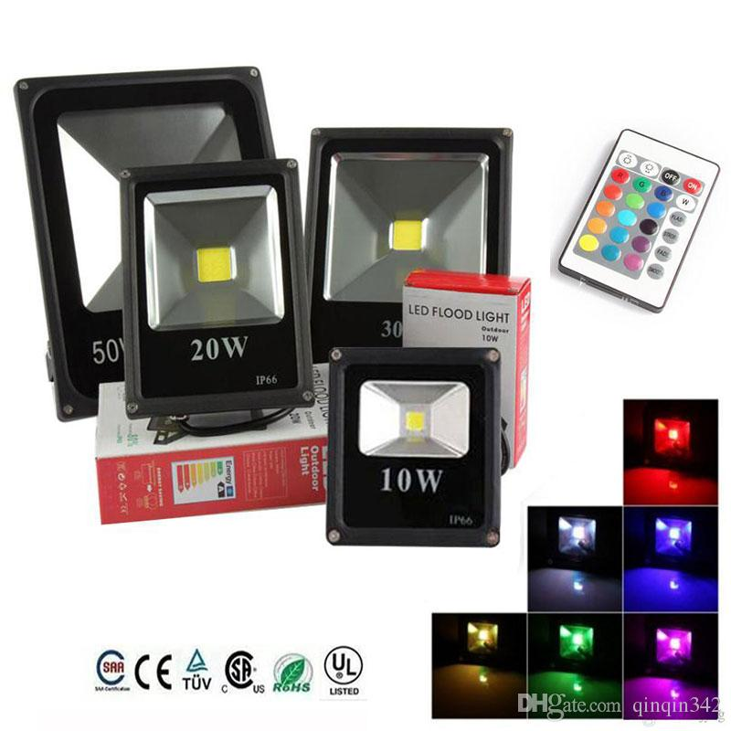 RGB / Sıcak / Soğuk Beyaz LED Projektör cob 10 W 20 W 30 W 50 W LED Taşkın Işık Açık LED Flood Aydınlatma