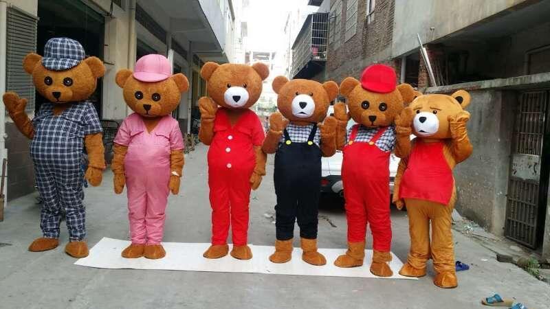 Brand New Design Adulto Teddy Bear Traje Da Mascote Adulto Teddy Bear Halloween Mascote do Natal Traje