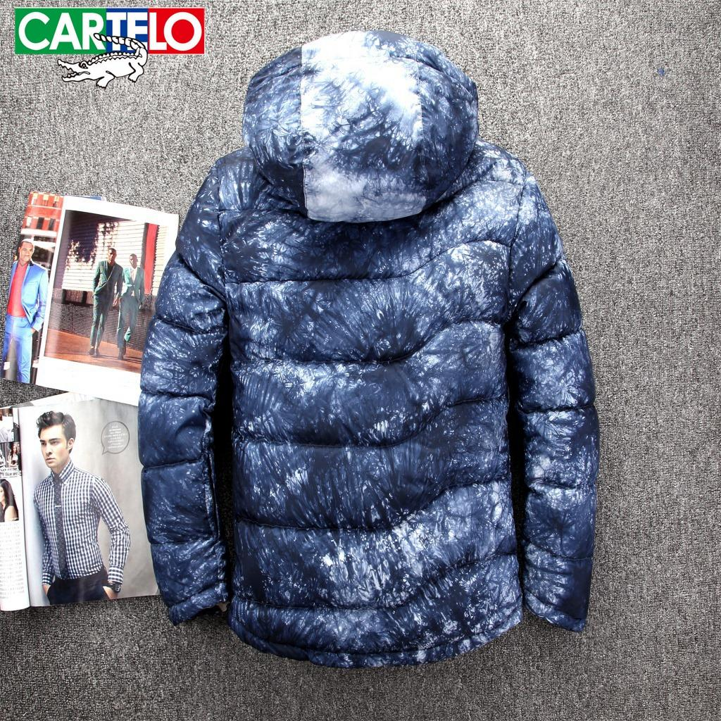 CARTELO 2017 Brand Winter Men Down jacket Casual Mens Down jacket camouflage Coats Thick Parka Men Outwear Down jacket Male