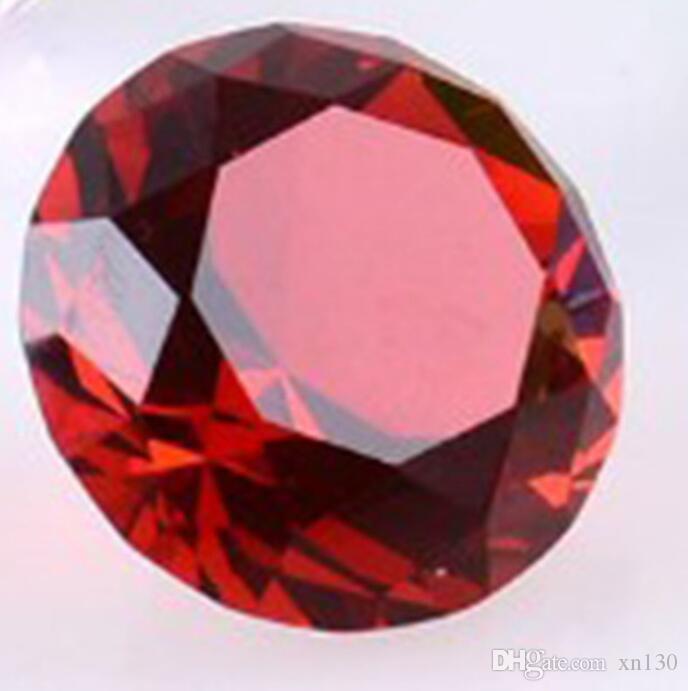 Color crystal glass diamond paperweight quartz crafts home decoration jewelry birthday wedding party souvenir gift 4cm-8cm