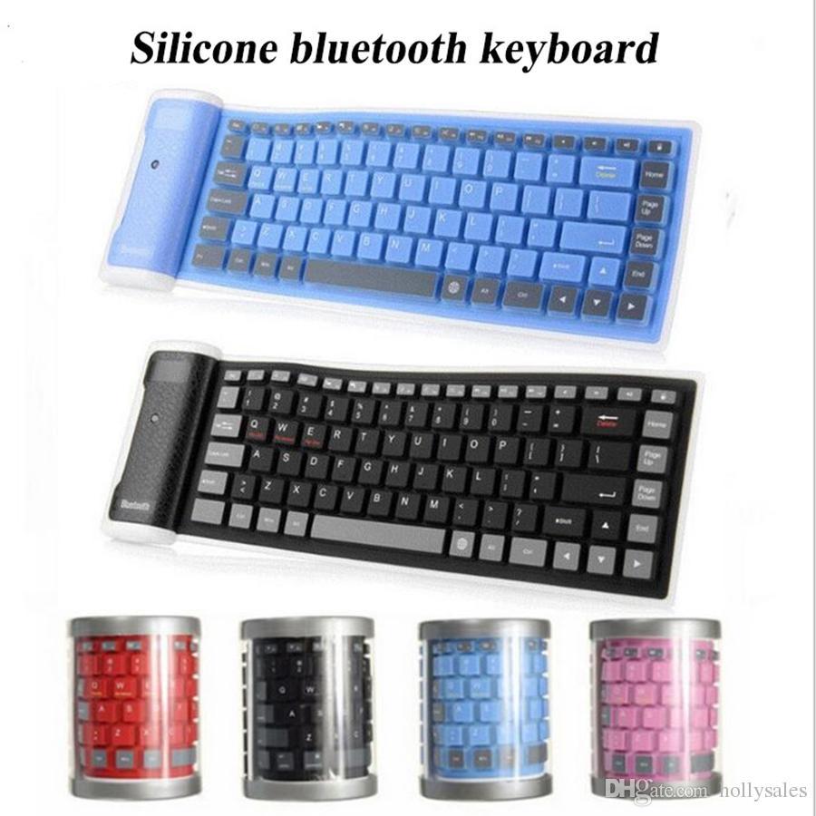 Yeni taşınabilir silikon bluetooth 3.0 kablosuz klavye 85 tuşları esnek katlanabilir ultr-ince akıllı klavye iphone samsung ipad pro 9.7
