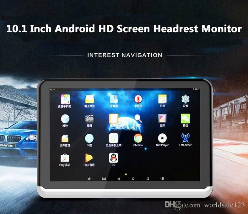 Новый Android 6.0 автомобильный DVD подголовник монитор плеер 10.1 дюймов HD 1080P видео с WiFi/HDMI/USB/SD/Bluetooth / FM передатчик