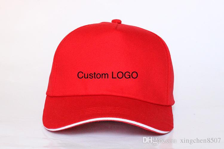 Cappucci di sport all'aperto del berretto da baseball in bianco di 100pcs / lot che stampano i cappelli di pubblicità che i cappelli adulti del sole possono su misura progettazione della società di stampa per il regalo