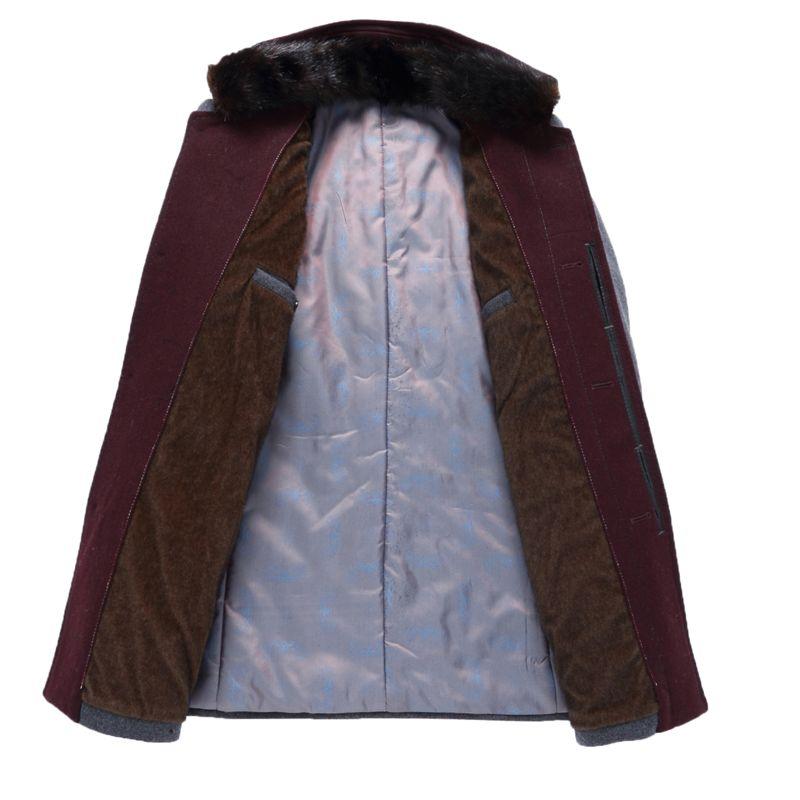 Acquista LONMMY Wool Blends Cappotto Mens Soprabito 36% Lana Cappotto Lungo Giacca Uomo Lana Trench Maschio Inverno Windbreaker Grigio A $76.0 Dal