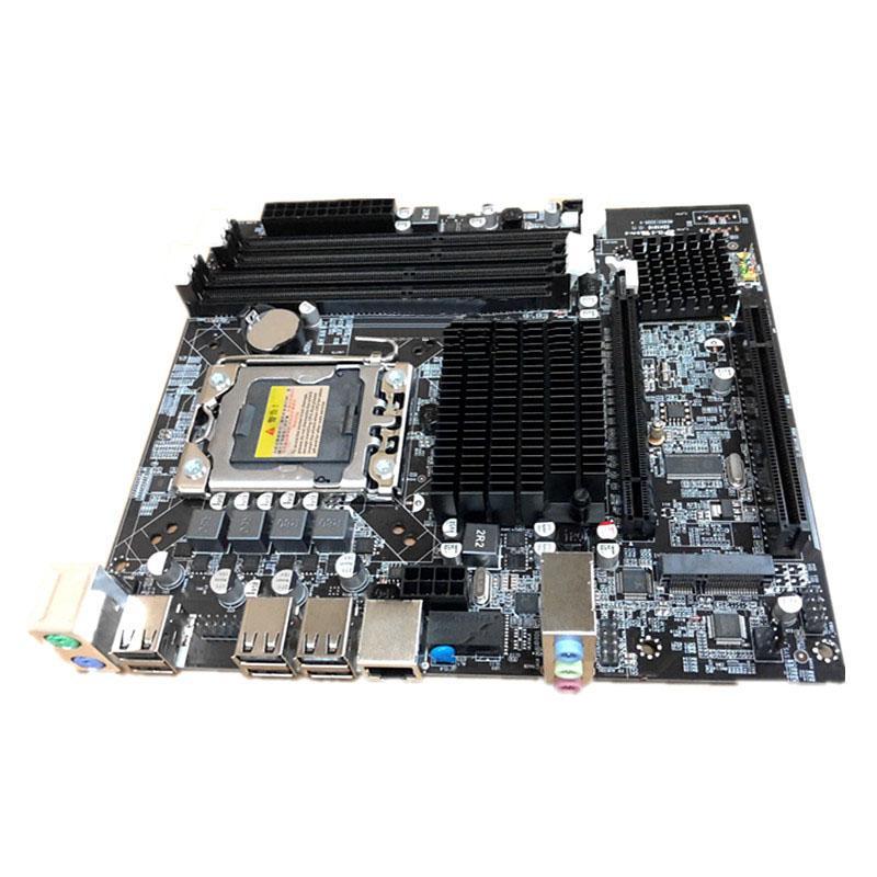 Для Inter X58 Desktop LGA 1366 X58 материнская плата 4xDDR3 32GB ECC RAM PC компьютер материнская плата M-SATA PCIE 16X