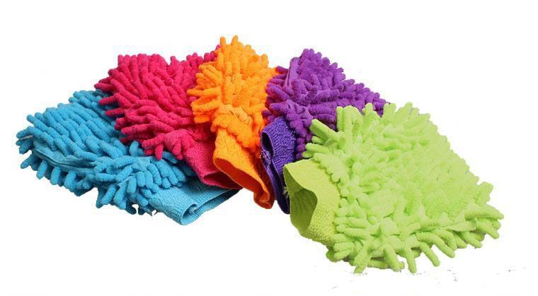 9 colors Microfiber Snow Neil fiber high density car wash mitt car wash gloves towel cleaning gloves