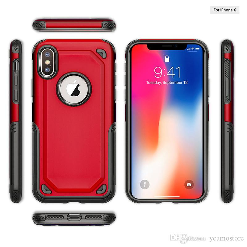 2 in 1 Armor Hybrid Case for iphone X 7 8 7 plus 8 plus Rugged Shockproof Armor Heavy Duty TPU Phone Case
