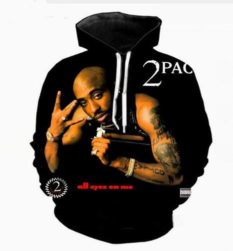 Le plus récent drôle Rappeur Tupac 2Pac Dernières L Harajuku 3D Style Imprimer Sweats Vêtements Mode Femmes / Hommes Mode Hoodiest Casual overs K432
