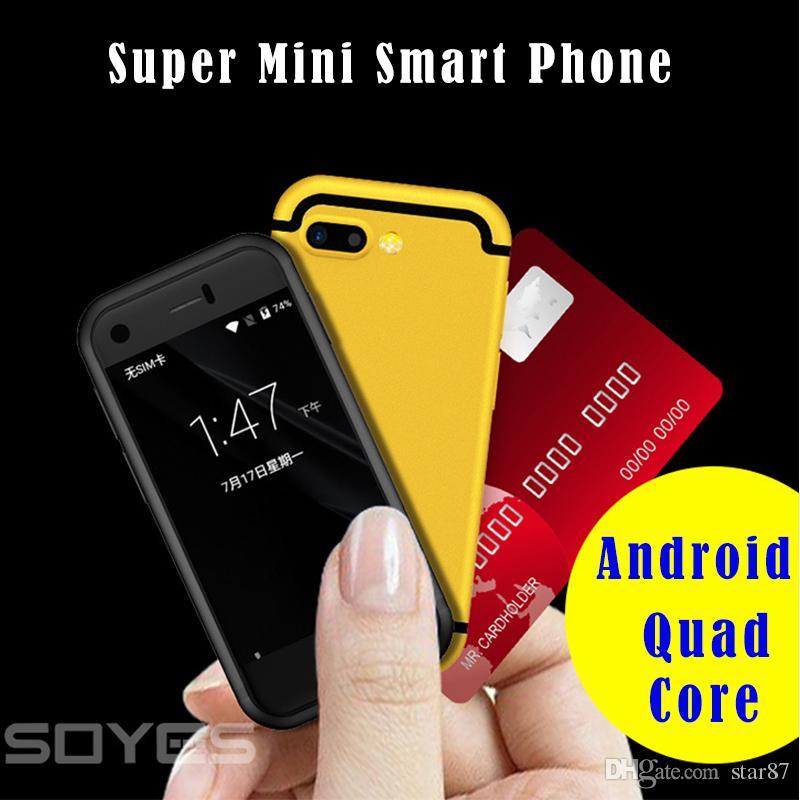"""Original Soyes 7S Mini Smartphone Android 2.54 """"pouces haute résolution Quad Core 1 Go de RAM 8GB ROM 5.0MP Double carte SIM 3G Téléphone portable"""