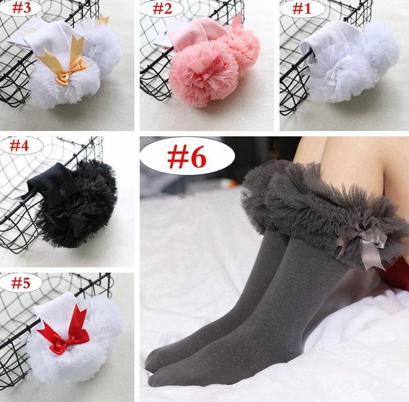 Mädchen Rüsche Kniestrümpfe Baby einfarbig Schleife Socke Kinder warme Socken 6Colors 4size für 0-4T