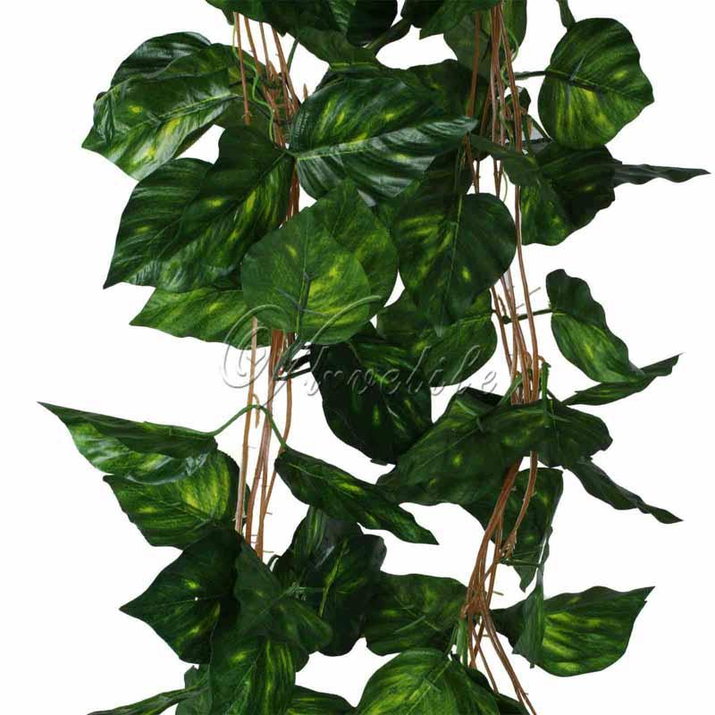 2.3m Artificial Plants Rhodea Ivy Vine Fake Foliage Garland Plants Hanging Plants Flowers Wedding Home Decor 10pcs /Lot