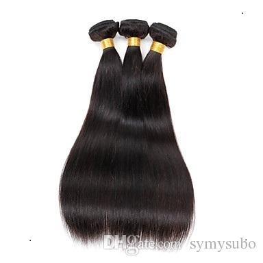 App sales-promotion peried 10% discount Brazilian Virgin Straight Hair Weave 100% Human Hair Weaving 6a Brazilian Hair Products 100G/1PCS