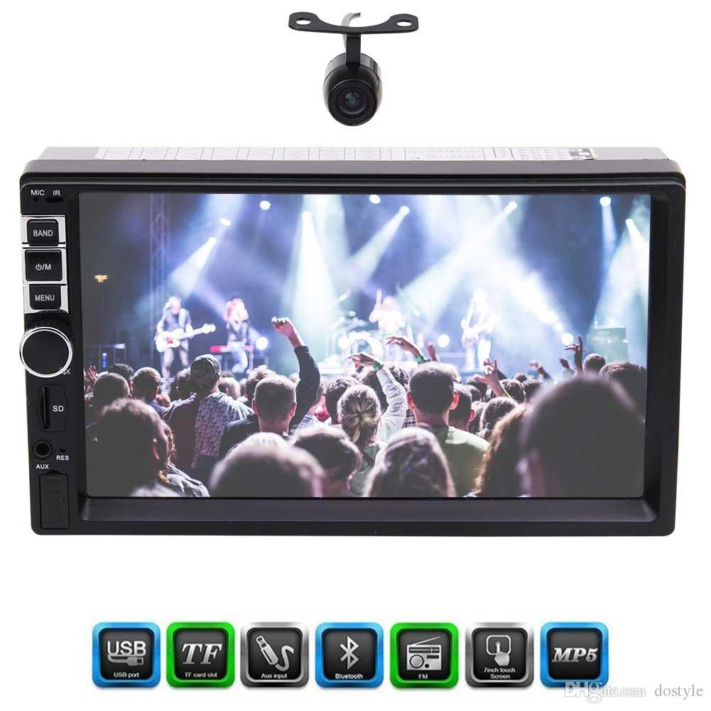 Frontkamera Double 2 Din Eincar 7 '' Touchscreen Autoradio Auto-Stereo-Kopf-Einheit Player Bluetooth Hände frei 1080P Movie RearView-Kamera