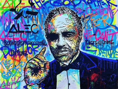 High Quality Handpainted & HD Print Home Decor Abstract Graffiti Pop Art oil painting The Godfather,Wall Art On Canvas Multi Sizes g73