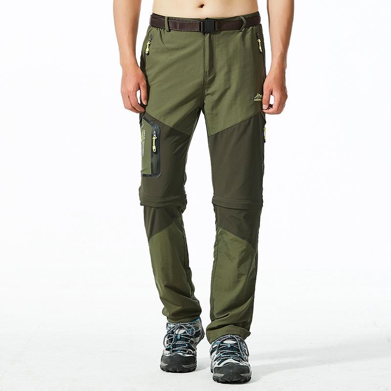 Pantalones para hombres Hombres Otoño Seco rápido Casual Lightweight Longitud integral Pantalones tácticos desmontables
