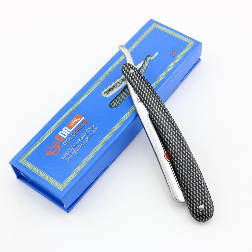 Straight Razor Folding razor Shaving razors Gold dollar High-level stainless steel blade Model 208 with gift box 10 PCS/LOT NEW