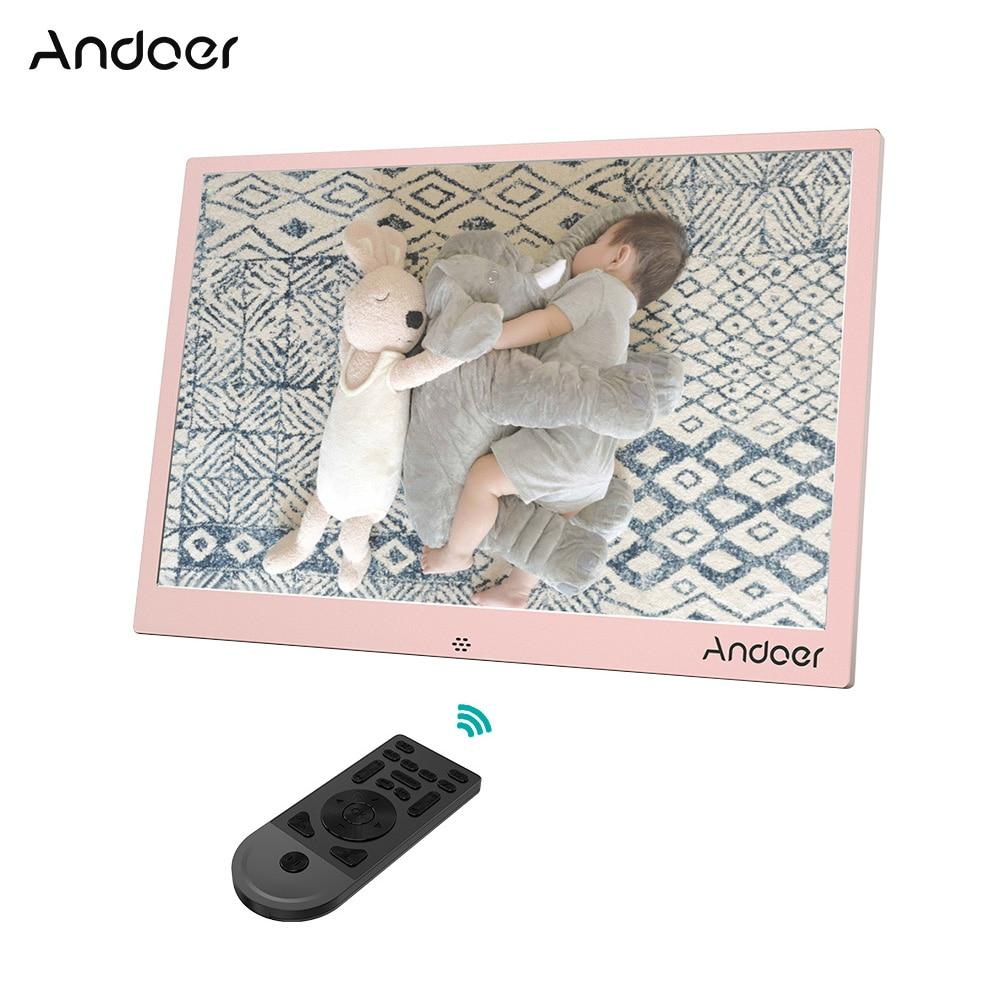 wholesale Aluminum Alloy 13'' LED Digital Photo Frame Support 1080P Video Play with Remote Control Christmas Birthday Gift