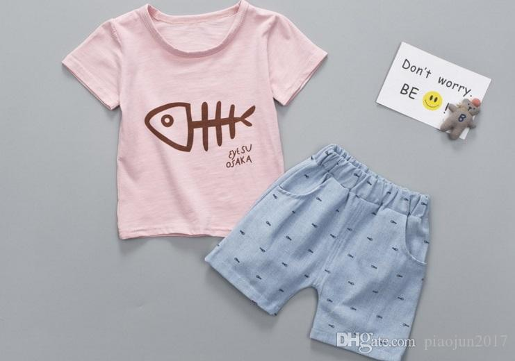 Kids Boys 2 Piece Short Sleeve Tshirt Shorts Set Outfits 1 to 5 Age Baby  Baby Boys Short Sets