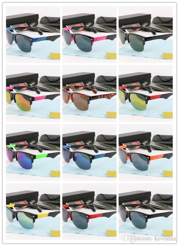 Markendesigner hochwertige Halbbildbrille Großhandel für Männer und Frauen Sonnenbrillen fahren google Glas Strand Sonnenbrille