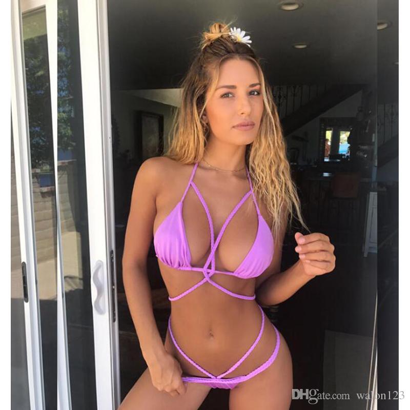 2020 Womens Sexy Braid Halter Cutout Brazilian Summer Hot Sexy