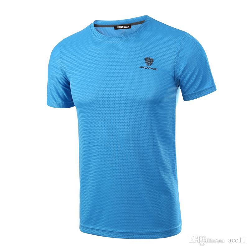 Оптовая мужчины Quick Dry дышащий футболка весна лето фитнес хип-хоп с коротким рукавом футболки мужская Джерси футболка MC0278