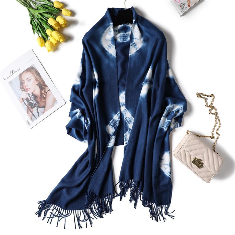 2018 الربيع والشتاء النساء وشاح لينة سميكة الدافئة سيدة الباشمينا حجم طويل باندانا أنثى شال التفاف الكشمير والأوشحة echarpe